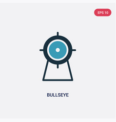 two color bullseye icon from sports concept vector image