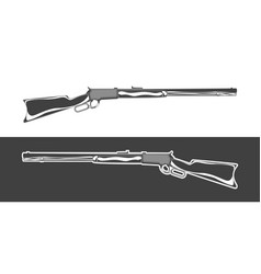 Vintage monochrome rifle isolated vector