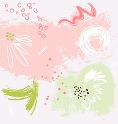 watermelon grunge pink green bckground pastel vector image