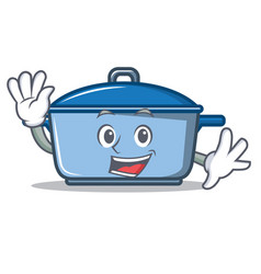 waving kitchen character cartoon style vector image