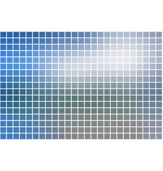 White blue shades square mosaic background over vector