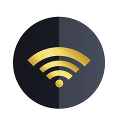 wifi icon black circle background image vector image