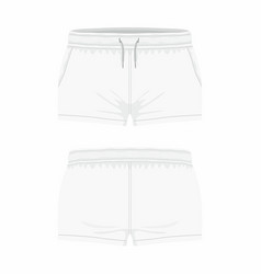 womens white sport shorts vector image