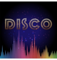 Disco background with soundwaves vector image vector image