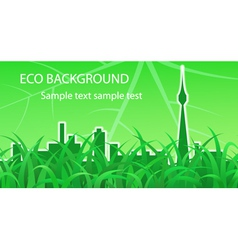Ecological background vector image