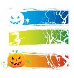 Halloween back vector image