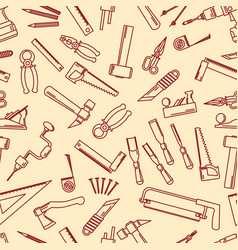 seamless set of hand tools for productive work vector image