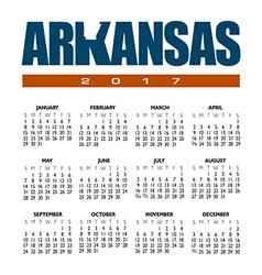 2017 Arkansas Calendar vector image