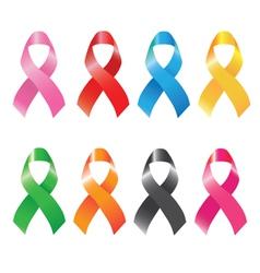 awareness ribbons vector image vector image