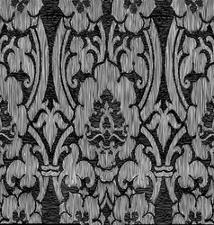 Black and white abstract striped floral pattern vi vector image vector image