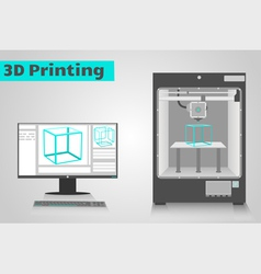 Printing in 3D vector image