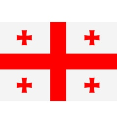 Rectangle flag of Georgia vector image vector image