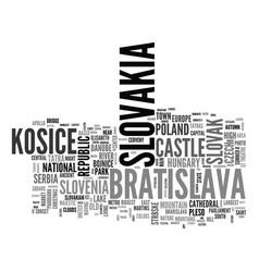 Slovakia word cloud concept vector