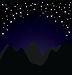 STARRY NIGHT vector image
