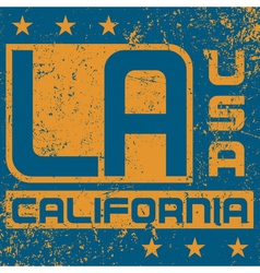 T shirt typography graphics Los Angeles California vector image vector image