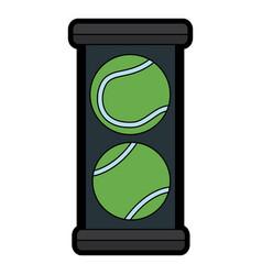 tennis ball box equipment sport vector image