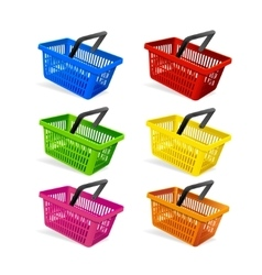 Plastic Basket Set vector image