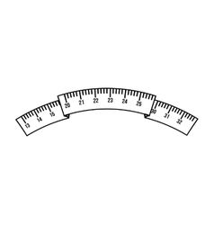 tape measure isolated icon design vector image vector image