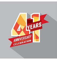 41st Years Anniversary Celebration Design vector image