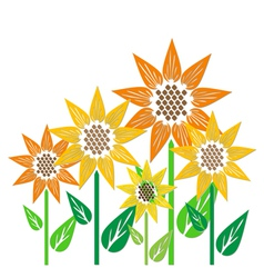 Abstract sunflowers vector image vector image