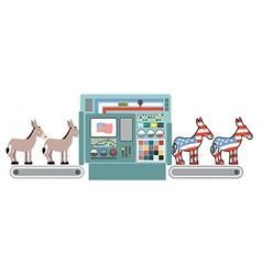 Democratic America factory Donkey Democrat vector image vector image