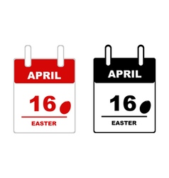 Easter calendar 2017 vector image