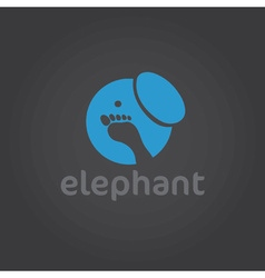 Elephant silhouette design template vector image