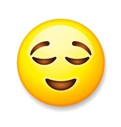 Emoji isolated on white background emoticon vector image