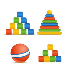 Wood color toys vector image vector image