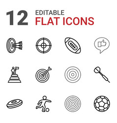 12 goal icons vector