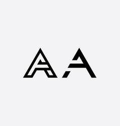a element letter black icon logo sign vector image