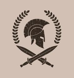 A spartan helmet in a vector