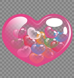 Abstract colorful heart balloons for Valentine day vector image