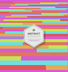 abstract of colorful stripe lines pattern vector image