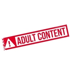 Adult Content rubber stamp vector image