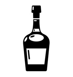 alcohol icon simple style vector image