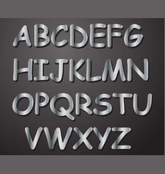 alphabet silver in color from a to z vector image