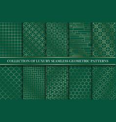 Art deco gold seamless ornamental patterns vector