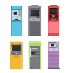 Atm bank machine for payment street terminal vector