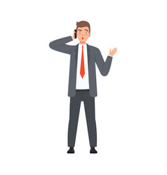 bisnessman solve issues character vector image