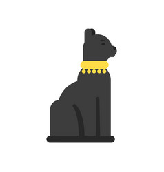 Black egyptian cat traditional egyptian culture vector