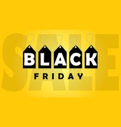 black friday sale banner black friday design vector image