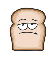 Bored slice bread cartoon vector