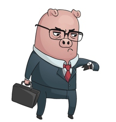 Business Pig vector