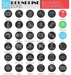 business project planning circle white vector image