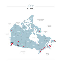 Canada map with red pin vector