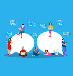 chat talk people for sending messages vector image