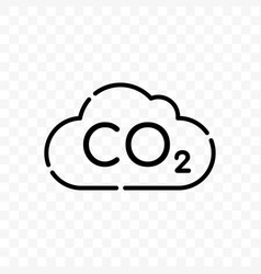 co2 cloud carbon pollution icon vector image
