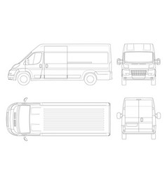 commercial vehicle or logistic car outline cargo vector image
