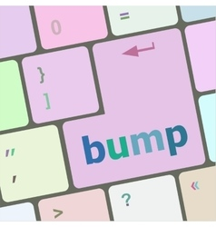Computer keyboard with bump key business concept vector